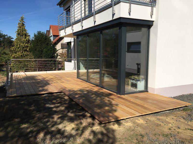 Terrasse Garapa Holzbau Schneider Herzlich Willkommen